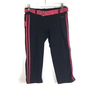 bebe Workout Pants Leopard Red Black M